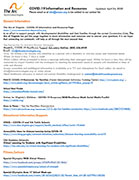 Arc COVID-19 Information and Resources Flyer, The Arc of North Central Virginia