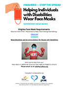 Helping Individuals with Disabilities Wear Face Masks Flyer, The Arc of North Central Virginia